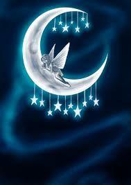 Fairy on Moon and Stars