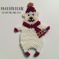 Etsy の Broche ourstoinou perles miyuki 11 by Makeristerie