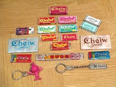 Chicles Cheiw, mi favorito era el de canela