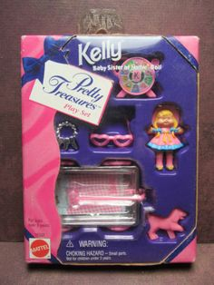 1996 Pretty Treasures Play Set - Accessories for Kelly Doll - Barbies Sister