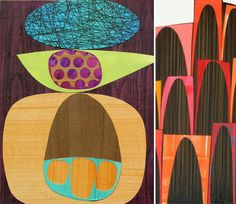 """""""Here's a little Friday color inspiration from Rex Ray, a SF based artist. I've always admired his work after seeing it all over the walls of the Jonathan Adler store. Seeing his combination of color, shape and texture just makes you smile."""""""