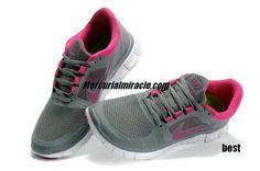 fde22ac8b9fa Womens Nike Free Runs 3 Deep Grey Fuchsia Shoes. off Nike shoes on this  site!