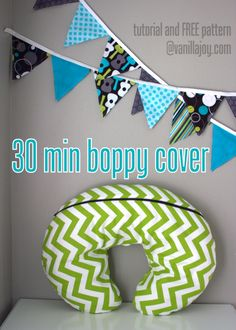 FREE Boppy Slipcover Pattern and Tutorial...not that I think I need more covers, but just in case :)