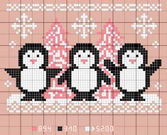 ... version rose ou bleue, à broder ( pourquoi pas ? ) sur un bavoir, à l'occasion du 1er Noël de bébé ... ... ou pour un cadeau de... Mini Cross Stitch, Cross Stitch Needles, Cross Stitch Animals, Counted Cross Stitch Kits, Cross Stitch Charts, Cross Stitch Patterns, Knitting Patterns, Cross Stitch Christmas Ornaments, Christmas Cross