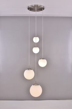 Hanglamp/Videlamp glas bollen 315cm