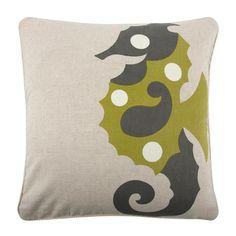 Thomaspaul - Amalfi Sea Horse Flax Pillow