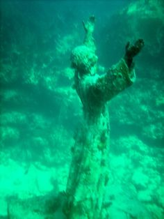 Christ of the Abyss. San Fruttuoso Bayby by Andrea Ehlen.