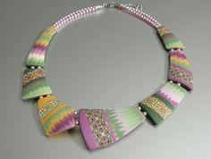 Геометрические ожерелья из полимерной глины ST-Art-Clay