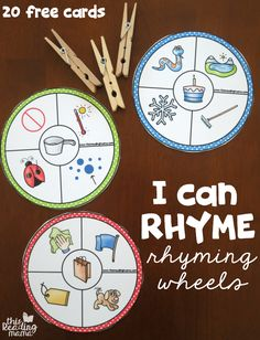 20 Free Rhyming Wheels - I Can Rhyme - This Reading Mama