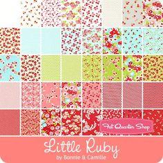 Little Ruby One Yard Bundle Bonnie & Camille for Moda Fabrics - One Yard Bundles | Fat Quarter Shop