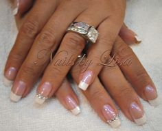 short squared nail french manicure - AOL Image Search Results