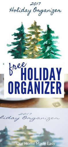 The annual holiday organizer is here! Download your own free copy of this holiday planner and get organized this holiday season! Includes lots of freebies!