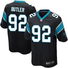 Youth Nike Carolina Panthers  92 Vernon Butler Game Black Team Color NFL Jersey  Cardinals Carson f05eb20f4