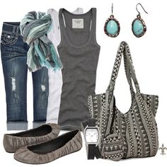 Grey and turquoise and comfy...