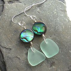 sea glass and abalone - the perfect pairing!