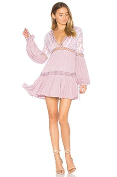 Spring Style Ideas. Pink ruffle lace dress.