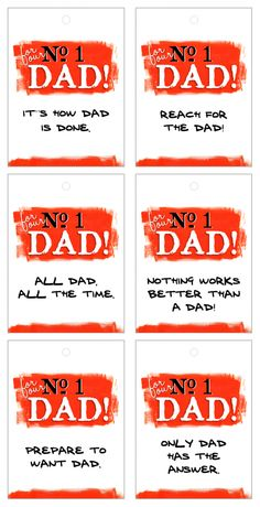 Father's Day Gift Tags @ http://caronedmunds.wordpress.com/2011/06/18/no-1-ad-dad-fathers-day-printables/
