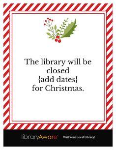 holiday closing signs templates