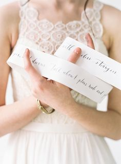 Calligraphy scroll | Blush Wedding Photography | see more on: http://burnettsboards.com/2014/10/unveiled-today-truvelles-2015-collection/