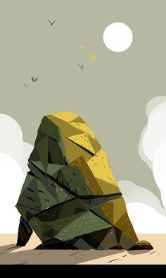 Arkenn Art Et Illustration, Landscape Illustration, Illustrations, Art Environnemental, Superflat, Dnd Art, Game Concept Art, Prop Design, Inspirational Artwork