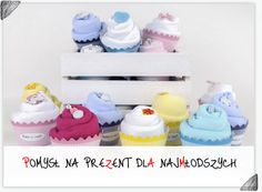 Cudowne body zwinięte w cupcake - idealny prezent z okazji urodzin dziecka!