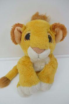"Authentic Lion King Simba Plush Mattel Floppy  Mattel 1993 12"" Soft Stuffed Anim #Disney"