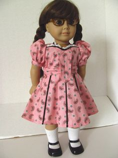 Molly Garden Dress  American Girl Doll Clothes by fashioned4you, $22.00