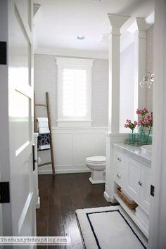 Powder Bathroom re-fresh for summer!  (Sunny Side Up)