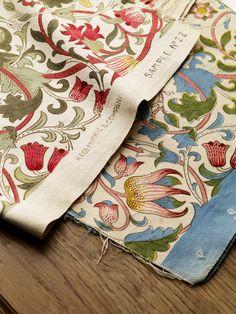'Lodden' Archive II fabrics, William Morris.