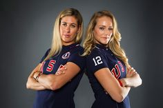 Beach volleyball players April Ross and Jen Kessy