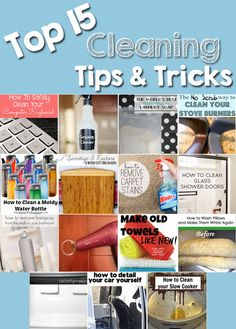 The Top 15 Cleaning Tips and Tricks - These are great!