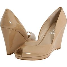 Great neutral wedge - for narrow feet.  Elegant but summery enough to wear with skinnies and short shorts.