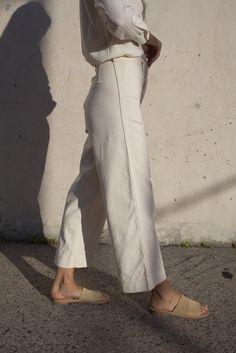 Caron Callahan Stewart Pant in Ivory Denim | Oroboro Store | Brooklyn, New York