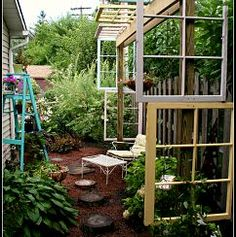 Modified Pergola Built With Recycled Windows :: Hometalk