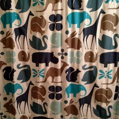 shower curtain in the kids bathroom