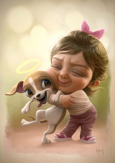 Funny And Magnificent Caricature Illustrations By Tiago Hoisel Cute Cartoon Pictures, Cute Cartoon Girl, Cartoon Cartoon, Cute Pictures, Baby Cartoon Characters, Cute Characters, Girly Drawings, Cute Animal Drawings, Cute Girl Drawing