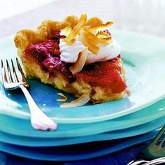 Tropical Strawberry Pie: This soft-set pie blends plump, scarlet strawberries, a favorite dessert ingredient in the Midwest, with canned pineapple and coconut cream pudding mix.