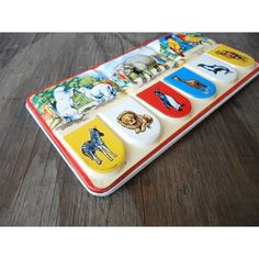 Vintage Watercolor Paint Box  - Zoo Animals Litho Tin - Page London Water Colors - Made in England on Etsy, $28.00