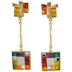 CHRISTIAN LACROIX COSTUME JEWELRY PICS  | Christian Lacroix - Colorful Earrings by Christian Lacroix