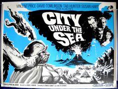City Under the Sea/War Gods of the Deep, British Quad, Vincent Price