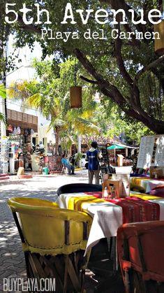 5th Avenue in Playa del Carmen, Mexico