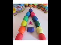 Letter A - Learn alphabet with Kinder surprise eggs - unboxing toys Play Doh Huevos Sorpresa - YouTube