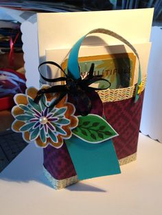 Another Stampin Up Tote. Bohemian Papers, flower patch stamps, and coordinating inks used