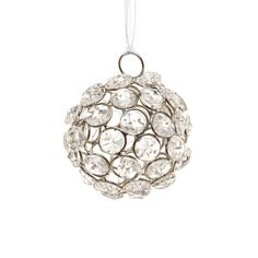 Create a Christmas Tree with a difference with this show-stopping crystal ball bauble.