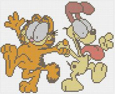 Garfield perler bead pattern