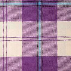 CUNNINGHAM (Dress Purple) GL033 100% Wool 10.5oz Tartan. Woven in Yorkshire by Marton Mills. Wool Fabric, Design Show, Purple Dress, Yorkshire, Tartan, Swatch, Weaving, Pure Products, Quilts