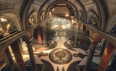 Temple of Utu Fantasy City, Fantasy Castle, Fantasy Places, High Fantasy, Medieval Fantasy, Fantasy World, Fantasy Rooms, Anime Places, Fantasy Concept Art