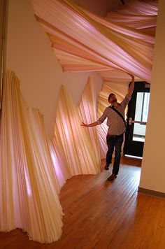 Fabric Installation @ Des Lee Gallery by carlietrosclair, via Flick