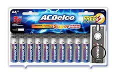 ACDelco Super Alkaline AA Batteries with Bonus LED Keychain Flashlight 20-Count