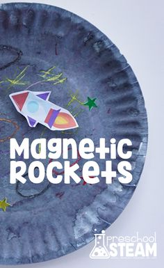 Blast Off with Magnetic Rockets: A STEM Activity for Preschoolers - The Best Space Activities Ideas For Kids Space Activities For Kids, Preschool Science Activities, Science For Kids, Letter Activities, Mad Science, Elementary Science, Preschool Rocket, Creative Thinking Skills, Kindergarten Stem